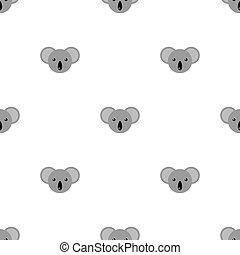 Seamless pattern with cute koala. Vector illustration for design, web, wrapping paper, fabric, wallpaper.