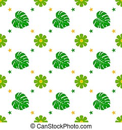 Seamless pattern with flower, Vector texture illustration.
