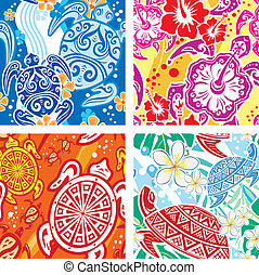 Seamless pattern with turtles