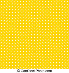 Seamless pattern, small white polka dots, bright yellow background for arts, crafts, fabrics, decorating, albums, scrapbooks. EPS8 includes pattern swatch that will seamlessly fill any shape.
