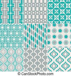 seamless retro pattern print