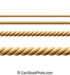 Seamless vector illustration of a rope