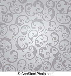 Seamless silver swirls wallpaper