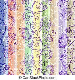 Seamless striped colorful pattern