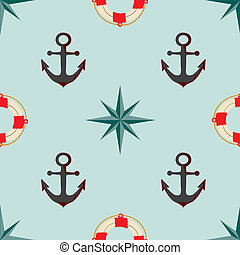Seamless texture. The maritime theme.