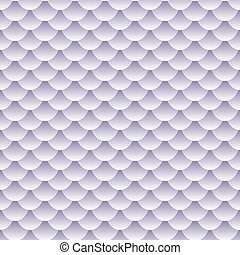 Seamless pattern of grey, lavender to white tones fish scales forming a textured repeat pattern, perfect wallpaper and other background or backdrop.