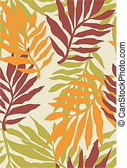 seamless tropical plant pattern