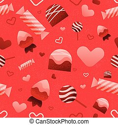 Seamless Valentines Day Pattern