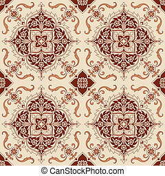 Seamless Vintage Background - Victorian Tile in vector