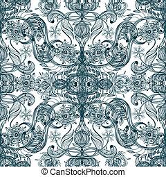 Seamless vintage pattern. Vector, EPS10.