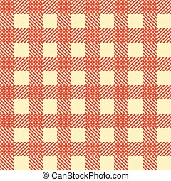 Seamless Vintage Square Pattern. Red Geometric Background. Vector
