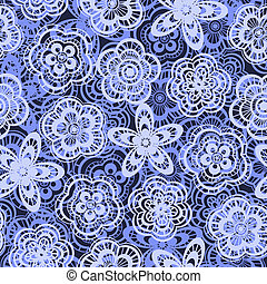 Seamless wedding background with lace flowers