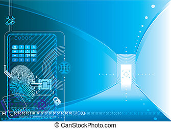 Security access concept of vector illustration Layers.