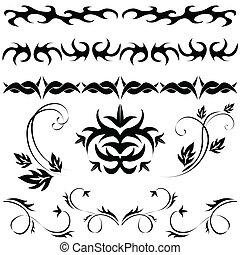 set Gothic pattern