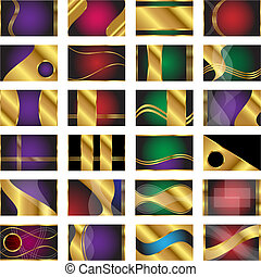 Set of 24 Credit Card Sized Business Card Backgrounds