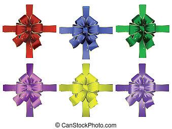 Set of abstract bows