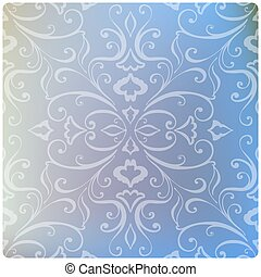 Set of Beautiful vintage pattern on unfocused colorful background.