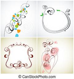 Set of calligraphic decoration