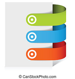 Set of colorful bookmarks