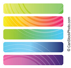 Set of colorful web banners