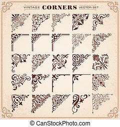 Set Of Design Elements 26 Corners
