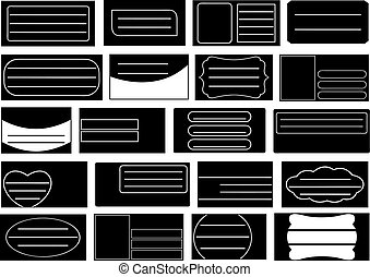 Set of different school notebook labels