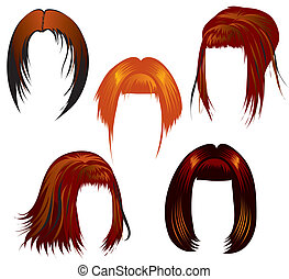 Set of hair styling for woman