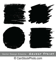 Set of Hand Drawn Grunge backgrounds.