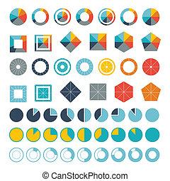 Set of infographic diagram elements for design.
