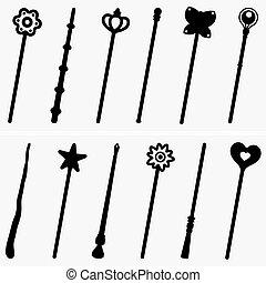 Set of Magic sticks