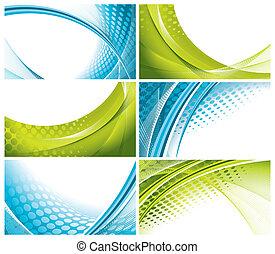 set of modern, elegant business cards