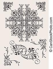 Set Of Ornate Design Elements