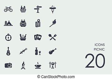 Set of picnic icons