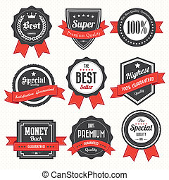 Set of retro vintage badges and labels10