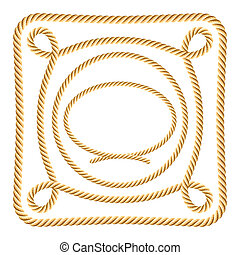 Vector illustration of rope elements
