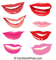 set of smiling lips