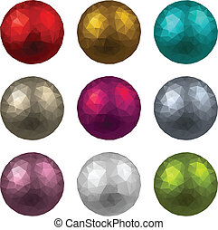 Set of textured realistic balls.