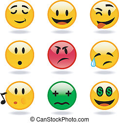 cool variety set of emoticons. Vector format