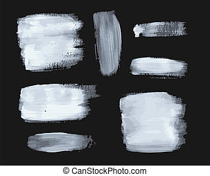 Set of vector paint strokes