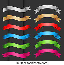 Set of vector ribbon banner for your text