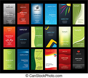 Set of verical business cards