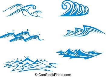 Set of wave symbols