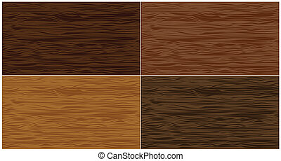 Set wood seamless patterns. Vector