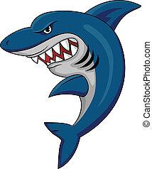 Vector illustration of shark mascot