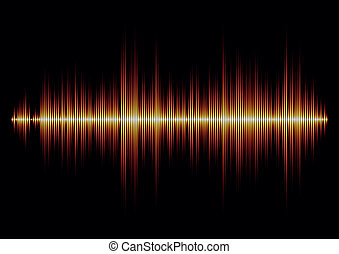 Fire styled music waveform with sharp edges