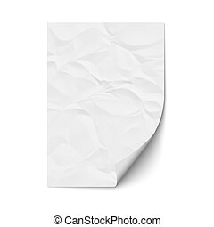 Sheet crumpled paper. Vector EPS10
