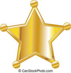 Sheriff badge clip art