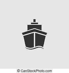 Ship icon flat