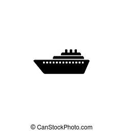 Ship icon vector. Cruise ship symbol icon