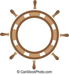 Ship steering wheel